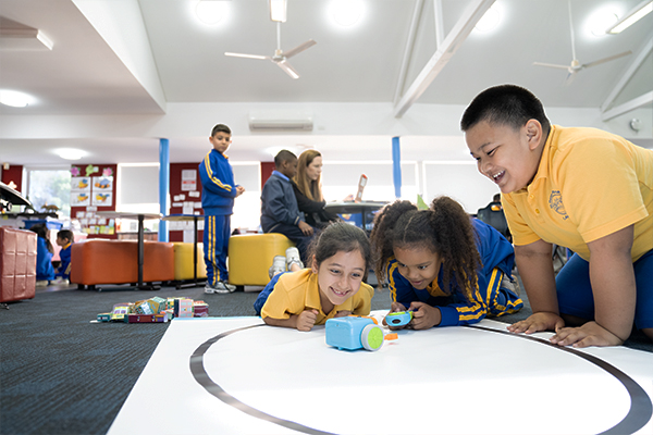 St Therese Catholic Primary School Lakemba - students working on robotics project