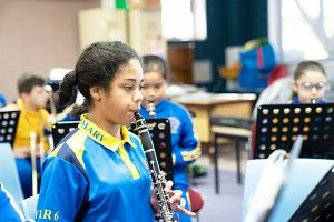 St Therese Catholic Primary School Lakemba - students playing the flute in music class